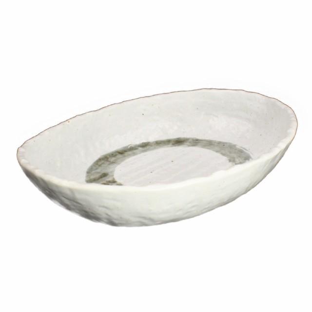 結晶大文字 白 22cm楕円深鉢 ホワイト 美濃焼 皿 ボウル カレー皿 パスタ皿 国産 日本製