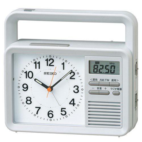 SEIKO セイコー ラジオ ライト付目覚まし時計 KR885N