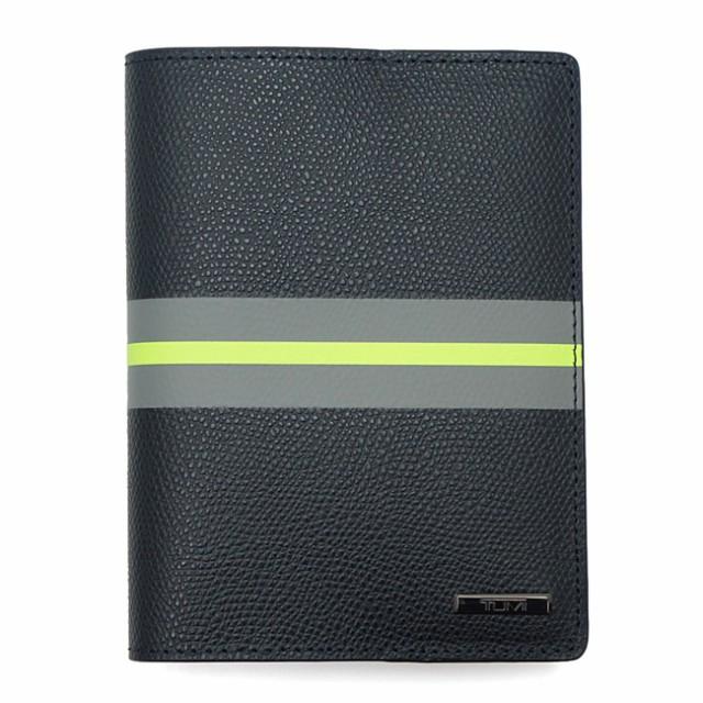 TUMI トゥミ 118811DSP PROVINCE パスポート・カバー 蛍光イエロー ブラックストライプ