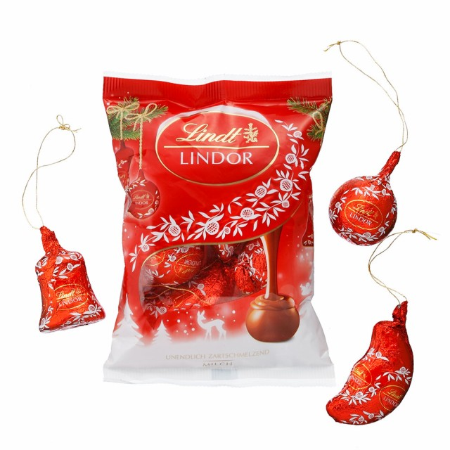 クリスマス お菓子【公式】リンツ チョコレート(Lindt) リンドール オーナメント ミルク100g