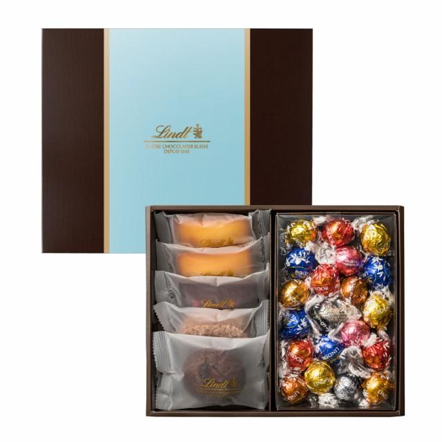 敬老の日 ギフト【公式】リンツ チョコレート(Lindt)焼き菓子ギフト フィナンシェ5個リンドール20個