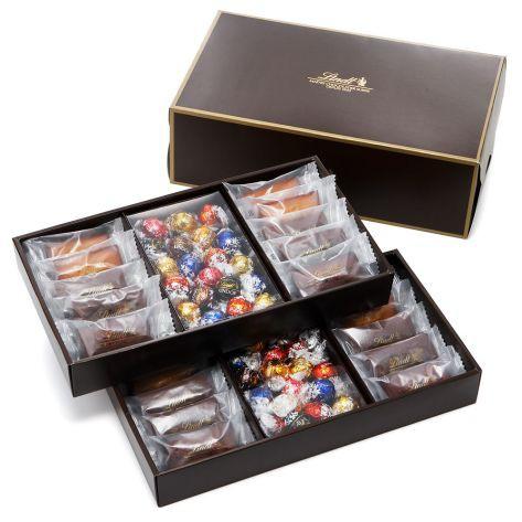 敬老の日 ギフト【公式】リンツ チョコレート(Lindt)焼き菓子ギフト フィナンシェ20個リンドール40個