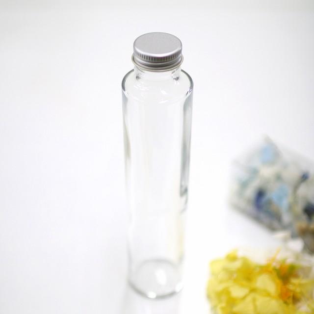 ハーバリウム作成用 200ml瓶 丸 アルミキャップ付き