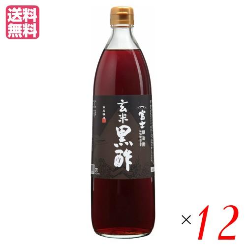 富士玄米黒酢 富士酢 玄米黒酢 飯尾醸造 富士玄米黒酢 900ml 12本セット