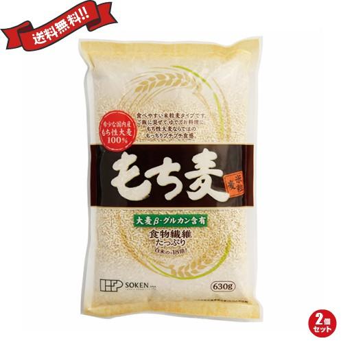 もち麦 国産 ごはん 創健社 もち麦(米粒麦) 630g 2個セット