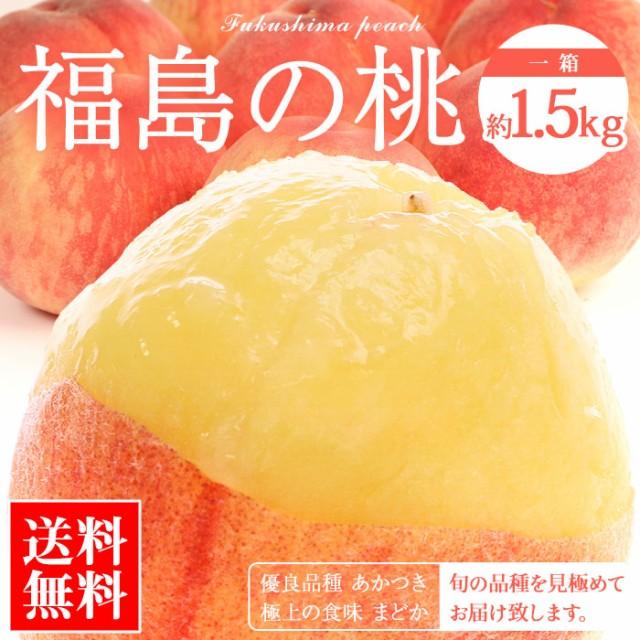 桃 もも 福島県産 約1.5kg 詰め合わせ 送料無料 ギフト プレゼント 贈答用 自宅用 暑中見舞い 残暑見舞い