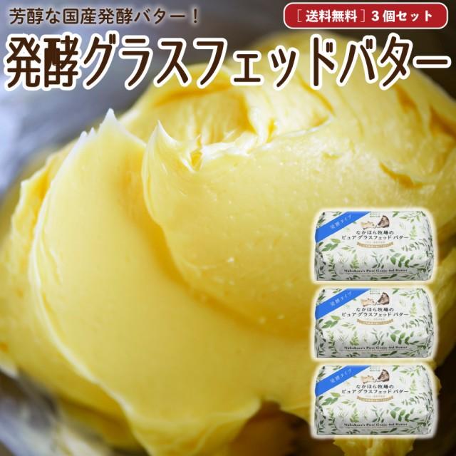 発酵グラスフェッドバター 国産 送料無料 100g×3個 ノーマル&発酵 お取り寄せ [冷蔵 / 冷凍可] aug
