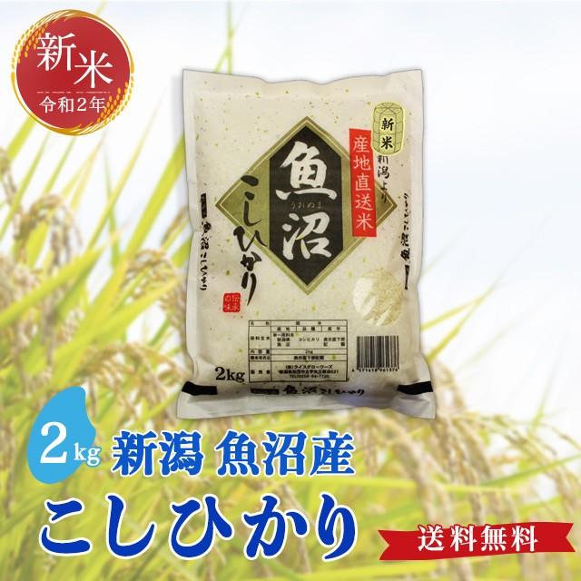 令和2年度産(新米)魚沼産 こしひかり 2kg 送料無料 新潟県 お米 2キロ