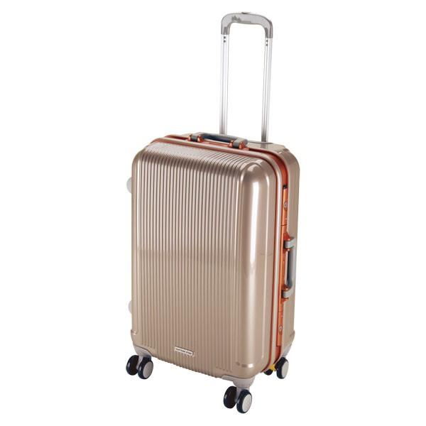 CAPTAIN STAG(キャプテンスタッグ) アウトドア グレル トラベルスーツケース(TSAロック付ハードフレームタイプ)〈M〉(シャンパン