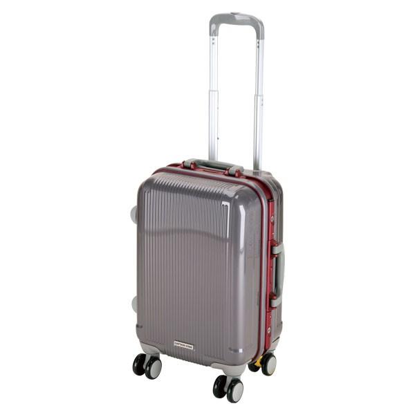 CAPTAIN STAG(キャプテンスタッグ) アウトドア グレル トラベルスーツケース(TSAロック付ハードフレームタイプ)〈S〉(スチールグ