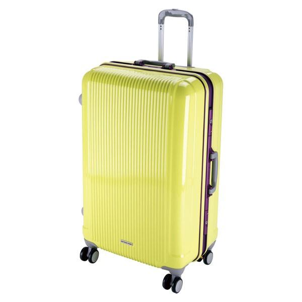 CAPTAIN STAG(キャプテンスタッグ) アウトドア グレル トラベルスーツケース(TSAロック付ハードフレームタイプ)〈L〉(アップルグ