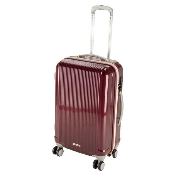 CAPTAIN STAG(キャプテンスタッグ) アウトドア グレル トラベルスーツケース(TSAロック付ダブルファスナータイプ)〈M〉(ワインレ