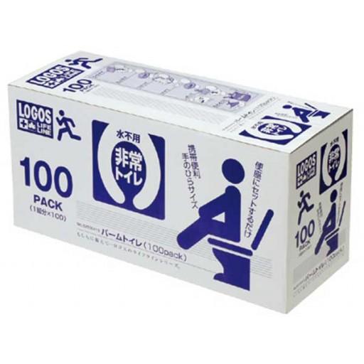 ロゴス(LOGOS) アウトドア LLLパームトイレ(100pack) 携帯トイレ 簡易トイレ エマージェンシー 緊急 登山 防災  821004