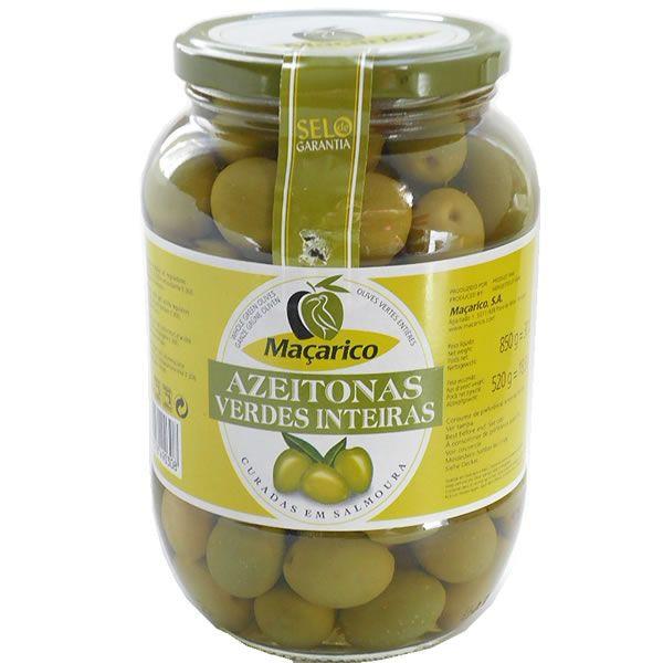 オリーブの実 種付き グリーンオリーブ 固形量520g 内容総量850g マサリコ macarico
