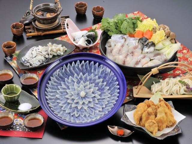 ふぐ料理にぎわいフルコースセット (4人前)(送料込)