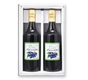 山形県月山高原!ブルーベリージュース(果汁100%)(加糖タイプ)720mlX2本セット(化粧箱入り)