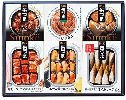 缶つま 6種類詰め合わせギフトセット(KT2)(缶詰 おつまみ いか明太 オイルサーディン ムール貝 ベーコン 鮭ハラス たこ)
