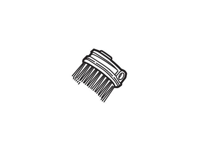 【定形外郵便対応可能】Panasonic(パナソニック) 掃除機用 手元ブラシ 部品コード:AMV0VR-D40