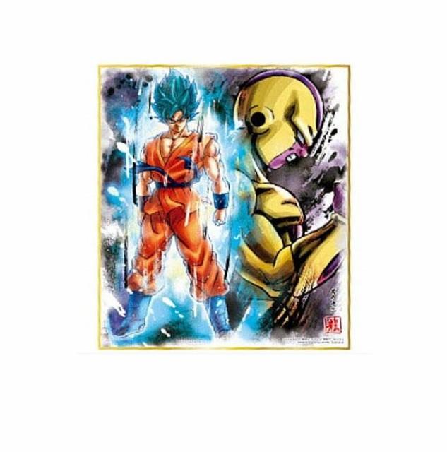 ドラゴンボール 色紙ART9 超サイヤ人ゴッド超サイヤ人 孫悟空 VS ゴールデンフリーザ 単品 色紙 DRAGON BALL