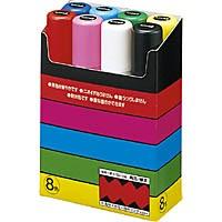 ★ポイント最大16倍★【翌営業日発送】-ato5416-0477 ポスカ極太8色セット 黒・赤・青・緑・黄・桃・水色・白 54160477 三菱鉛筆 PC17