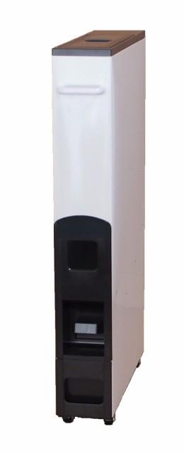 スリムライスディスペンサー ブラウン/ホワイト(12kg収納 無洗米兼用)