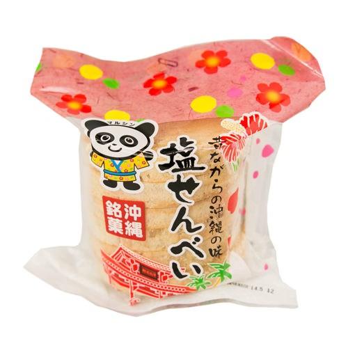塩せんべい 6枚入りが 丸眞製菓 昔ながらの駄菓子 子供のおやつやお茶請けなどに最適! |塩せんべい |