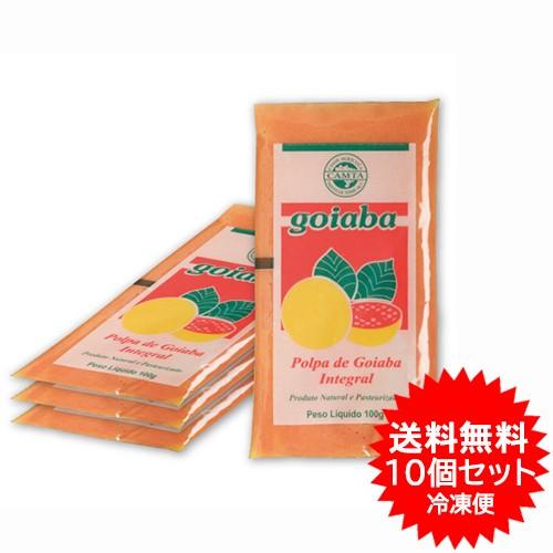 【送料無料】グアバフルーツパルプ フルッタ 400g×10パック(4kg) 冷凍 業務用お買得セット