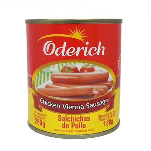 オデリッチ チキンソーセージ 280g(固形量180g) 【ソーセージ 缶詰】【ウィンナーソーセージ】【非常食 肉】【サルシッチャ】【缶詰