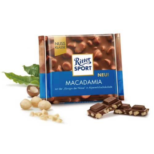 リッタースポーツチョコレート マカダミアナッツ 100g 【ドイツ チョコレート】【チョコレート マカダミア】【ミルクチョコ】