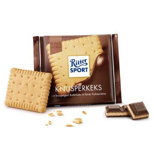 リッタースポーツチョコレート ビスケット 100g 【ドイツ チョコレート】【チョコレート ビスケット】【ミルクチョコ】