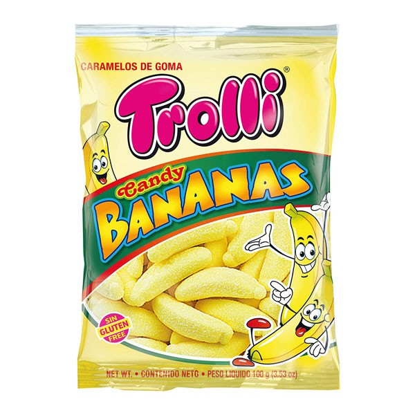 トローリ キャンディバナナ 100gTROLLI CANDY BANANAS 100GR