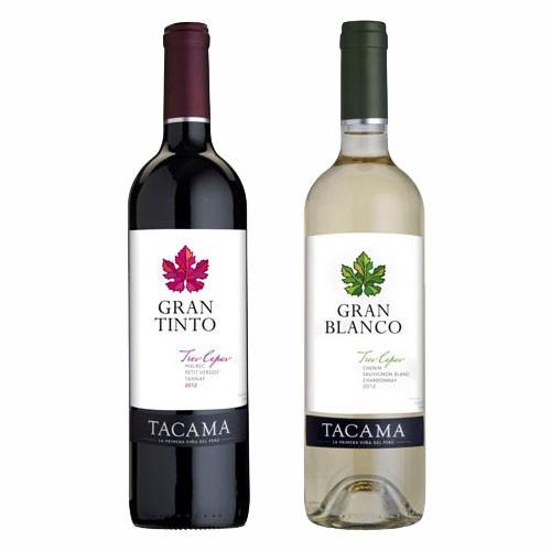 【送料無料】大使館御用達ブランド TACAMA 紅白ワイン 各6本セット(合計12本) 【ワインギフト】【ペルーワイン】