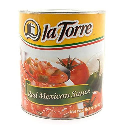 【業務用】レッドトマトソース(レッドサルサ)缶詰 la Torre 2800g red mexican sauce salsa roja 2.8kg【サルサロハ】【メキシコ産 タ