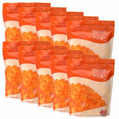 【送料無料】冷凍マンゴー(カットマンゴー) 500g(5個分) トロピカルマリア×10袋(5kg) トロピカルマリア 【冷凍 マンゴー】【マンゴー