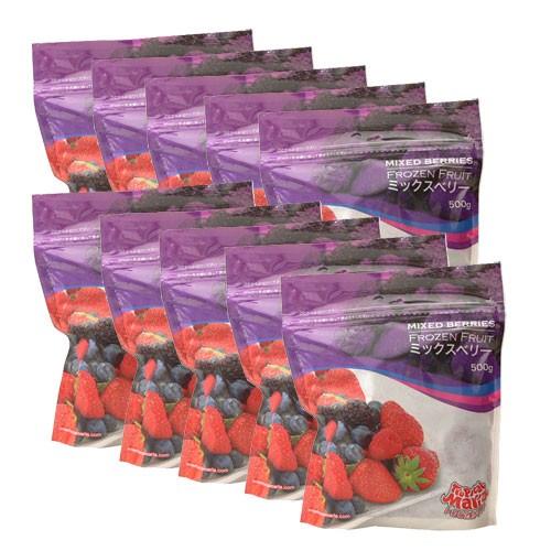 【送料無料】【10個セット】ミックスベリー(苺・ブルーベリー・ブラックベリー・ラズベリー) 冷凍 500g×10袋 トロピカルマリア 【冷凍