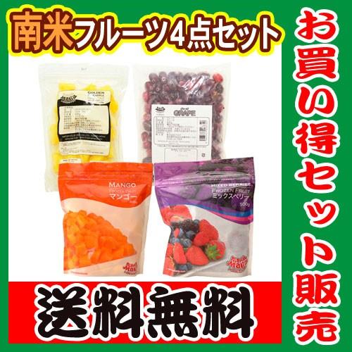 【送料無料】南米(チリ、ペルー、コスタリカ) フルーツ 4種類セット 500g×4袋 トロピカルマリア 冷凍 【冷凍 マンゴー】【アサイーボウ