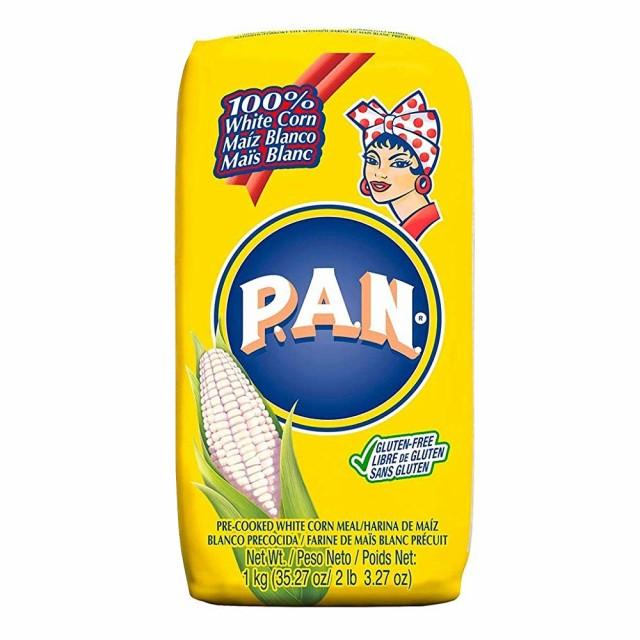 【送料無料】Harina P.A.N 白とうもろこしの粉(アレパ用) 1kg×3個セット Harina de Maiz Blanco Precocida【ホワイトコーンミール 】【