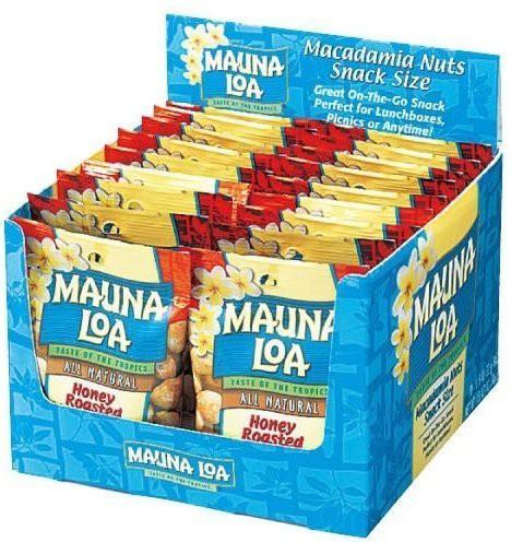 送料無料 MAUNALOA(マウナロア) マカダミアナッツ ハニーロースト 18袋セット (ハワイ おつまみ) ナッツ・豆菓子 ハワイ 食品 お菓