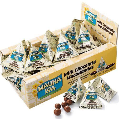 マウナロア マカデミアナッツチョコレートミニパック24袋 輸入チョコレート 輸入チョコ ナッツ・豆菓子 ハワイ 食品 ハワイお菓子 ギフ