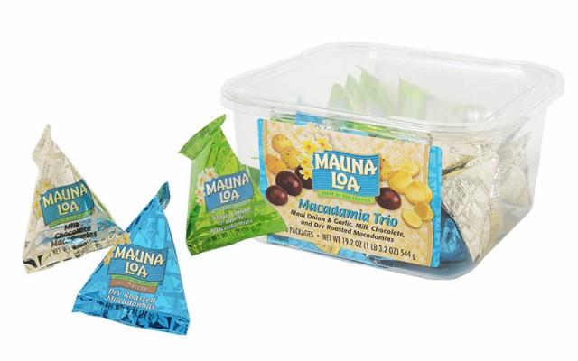 MAUNALOA(マウナロア) マカダミアナッツ トリオ (544G) 36個入り ナッツ・豆菓子 ハワイ 食品 ハワイお菓子 海外チョコレート ギフト プ
