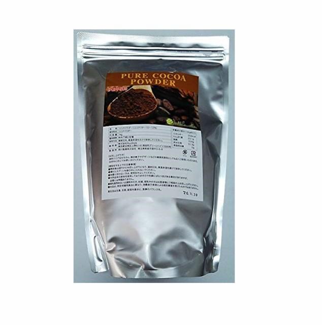 大容量 ピュア ココア パウダー 1キロ (ココアバター 10〜12%) 脂肪分が低めのココアパウダー 純ココア 業務用 製菓 ガーナ産 ダイエッ