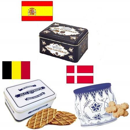 送料無料 ヨーロッパの輸入菓子 3缶セット 輸入菓子 缶 海外人気 ヨーロッパ輸入菓子 輸入クッキー 輸入キャラメル 輸入ワッフル スペイ