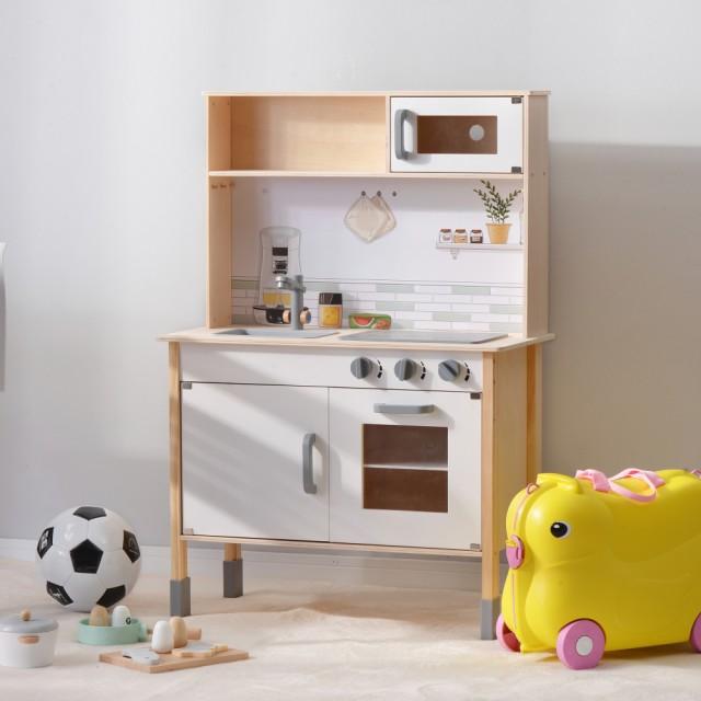 おままごとキッチン 木製 誕生日 台所 調理器具付 食材 知育玩具 コンロ ミニキッチン おもちゃキッチン 子ども おもちゃ 子供用 ギフト