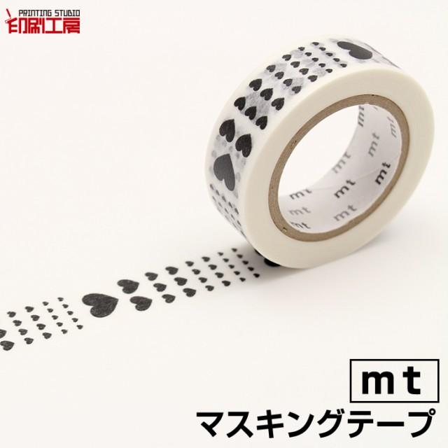 マスキングテープ mt 1P ハート・スケール カモ井加工紙 【印刷工房】