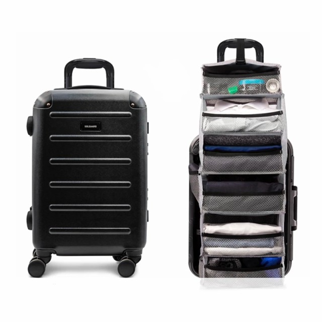 【 時短スーツケース SOLGAARD Sサイズ (1〜3泊用) 】 立体シェルフ収納内臓スーツケース 特許取得済み TSA TSAロック 10年保証 丈夫