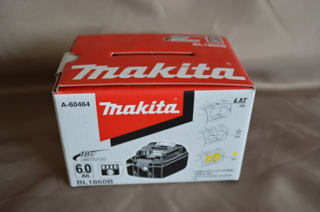 箱入り*付き最新電池、新品マキタ純正高容量18V6Ahリチウム電池 BL1860B(充電器DC18RFとの組み合わせで充電時間40分の最新電池)