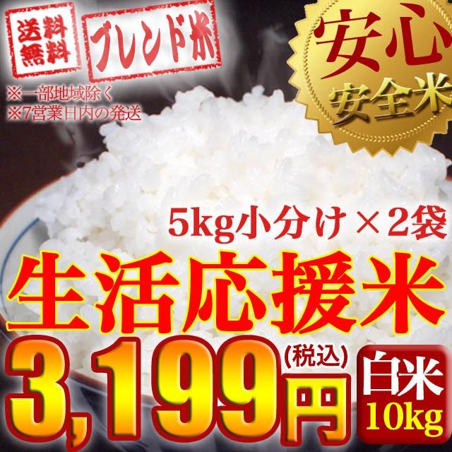 生活応援米♪ブレンド 国内産複数原料米 10kg 送料無料