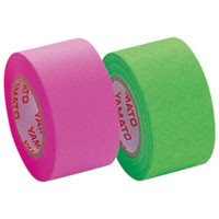 【メール便不可】 ヤマト メモックロールテープ(蛍光カラー) 詰替用 2色セット WR-25H-6B (ローズ・ライム)