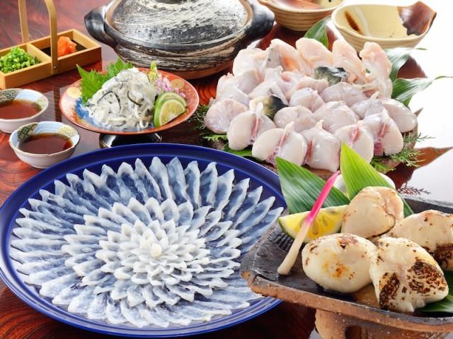 送料無料 とらふぐ料理フルコース(30cm陶器皿・3〜4人前)とらふぐ白子付き ギフト お取り寄せ 通販