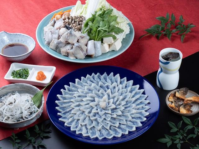 送料無料 とらふぐ料理フルコース(30cm陶器皿・3〜4人前) ギフト お取り寄せ 通販
